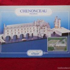 Coleccionismo Recortables: CASTILLO DE CHENONCEAU. RECORTABLE.. Lote 58004212