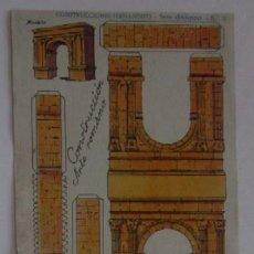 Coleccionismo Recortables: RECORTABLE ARCO DE BARA, TARRAGONA. Lote 59045135