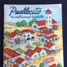 Coleccionismo Recortables: PUEBLECITO CON 13 CONSTRUCCIONES RECORTABLES (RECORTABLE). EDICIONES LA TIJERA.. Lote 59538615