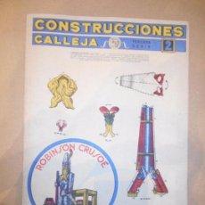Coleccionismo Recortables: RECORTABLE CONSTRUCCIONES CALLEJA - MODELO ROBINSON CRUSOE. Lote 61580828