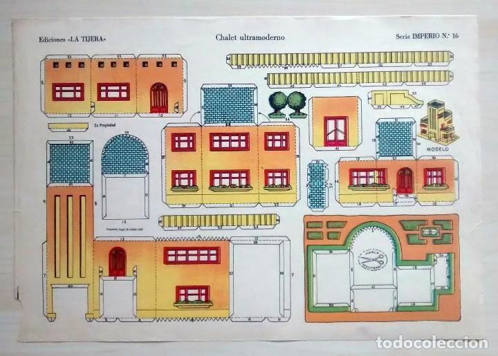 CHALET ULTRAMODERNO - RECORTABLES LA TIJERA - SERIE IMPERIO (29X40 CM) Nº 16 (Coleccionismo - Recortables - Construcciones)