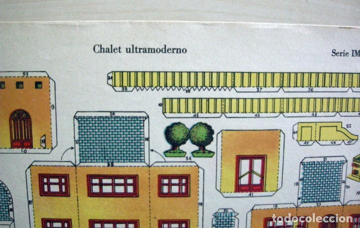 Coleccionismo Recortables: CHALET ULTRAMODERNO - Recortables La Tijera - Serie Imperio (29x40 cm) nº 16 - Foto 3 - 62737368