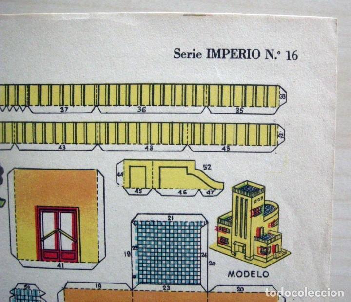 Coleccionismo Recortables: CHALET ULTRAMODERNO - Recortables La Tijera - Serie Imperio (29x40 cm) nº 16 - Foto 4 - 62737368