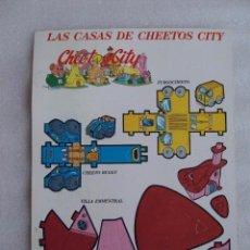 Coleccionismo Recortables: LAS CASAS DE CHEETOS CITY, RECORTABLE MATUTANO DE PRINCIPIO DE LOS AÑOS 90. NUEVO.. Lote 65253323