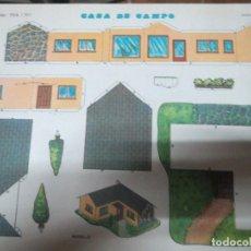Coleccionismo Recortables: RECORTABLES EVA 1301 CASA DE CAMPO 1965. Lote 69408593