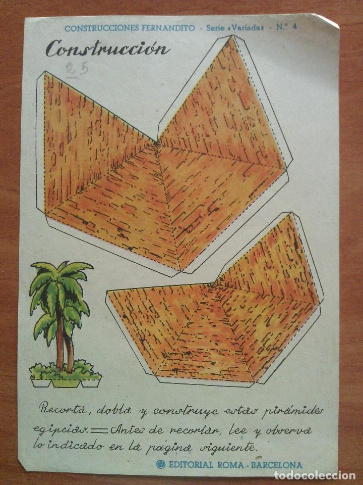 RECORTABLE ANTIGUO - EDITORIAL ROMA (Coleccionismo - Recortables - Construcciones)