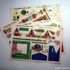 Coleccionismo Recortables: 5 LAMINAS RECORTABLES CONTRUCCIONES BOGA AÑOS 70. Lote 74013475