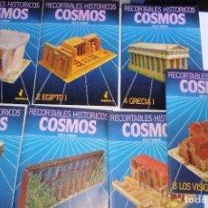 Coleccionismo Recortables: RECORTABLES HISTÓRICOS COSMOS LOTE DE 7 LIBROS DE RECORTABLES VER FOTOGRAFÍAS Y DESCRIPCIÓN. Lote 78575937