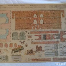 Coleccionismo Recortables: LA TIJERA MONUMENTOS NACIONALES TORRES DE SERRANOS VALENCIA ORIGINAL. Lote 80655682