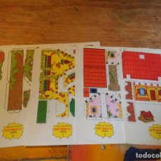 Coleccionismo Recortables: 4 RECORTABLES DE EDITORIAL ROMA-SERIE AMARILLA- CASAS. Lote 81124124