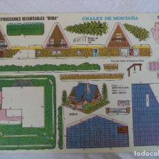 Coleccionismo Recortables: CONSTRUCCIONES BOGA Nº 522.CHALET DE MONTAÑA. Lote 84489252