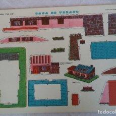 Coleccionismo Recortables: RECORTABLES EVA 1307.CASA VERANO. Lote 84491572