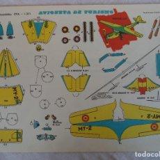 Coleccionismo Recortables: RECORTABLES EVA F1203 AVIONETA TURISMO. Lote 84492028