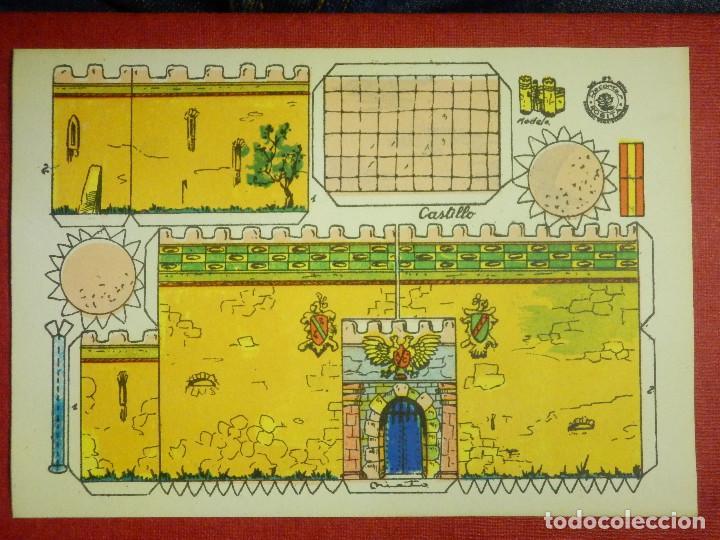 RECORTABLE - CASTILLO - RECORTES ROSITA - MODELO Nº 9 - EDITORIAL ROMA - (Coleccionismo - Recortables - Construcciones)