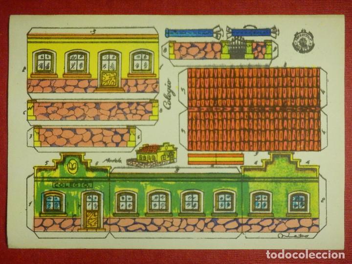 RECORTABLE - COLEGIO - RECORTES ROSITA - MODELO Nº 12 - EDITORIAL ROMA - (Coleccionismo - Recortables - Construcciones)