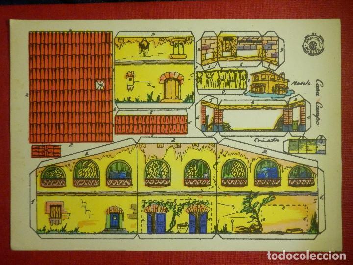RECORTABLE - CASA CAMPO - RECORTES ROSITA - MODELO Nº 2 - EDITORIAL ROMA - (Coleccionismo - Recortables - Construcciones)