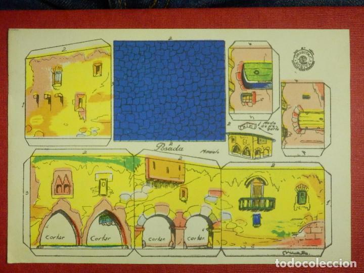 RECORTABLE - POSADA - RECORTES ROSITA - MODELO Nº 1 - EDITORIAL ROMA - (Coleccionismo - Recortables - Construcciones)