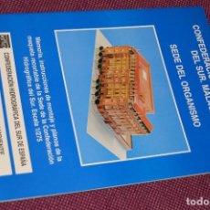 Coleccionismo Recortables: 8 LÁMINAS RECORTABLES - EDIFICIO PALACIO CONFEDERACIÓN HIDROGRÁFICA DEL SUR DE MÁLAGA - HAZ OFERTA. Lote 91579915