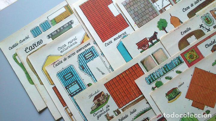 Coleccionismo Recortables: RECORTABLES CONTRUCCIONES - ANARANT - 16 EJEMPLARES DIFERENTES - Foto 3 - 94904351