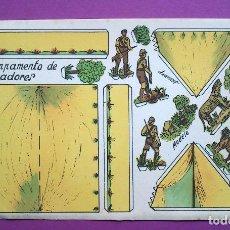 Coleccionismo Recortables: RECORTABLES CONSTRUCCIONES - ANARANT - CAMPAMENTO DE CAZADORES. Lote 94908115