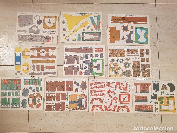 LOTE 10 LAMINAS RECORTABLES C Y P CYP CASTILLOS LAMINA ANTIGUAS AÑOS 70 DEL 1001-1110 CONSTRUCCIONES (Coleccionismo - Recortables - Construcciones)