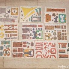 Coleccionismo Recortables: LOTE 10 LAMINAS RECORTABLES C Y P CYP CASTILLOS LAMINA ANTIGUAS AÑOS 70 DEL 1001-1110 CONSTRUCCIONES. Lote 95568511