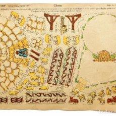 Coleccionismo Recortables: LAMINA RECORTABLE CASAS PARA NACIMIENTO SERIE 10 Nº 157 CHOZA. EDICIONES LA TIJERA AÑOS 50. Lote 96183555