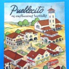 Coleccionismo Recortables: PUEBLECITO EN CONSTRUCCIONES RECORTABLES. HAY 8 RECORTABLES DE DIEZ. EDICIONES LA TIJERA, S/F.. Lote 99645631