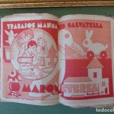 Coleccionismo Recortables: COLECCIÓN, TRABAJOS MANUALES DE MARQUETERÍA SALVATELLA. DEL Nº 1 AL Nº 8. CON CARPETA ANTIGUA . Lote 100089111