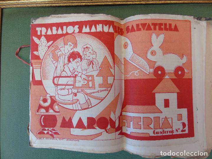 Coleccionismo Recortables: COLECCIÓN, TRABAJOS MANUALES DE MARQUETERÍA SALVATELLA. DEL Nº 1 AL Nº 8. CON CARPETA ANTIGUA - Foto 2 - 100089111