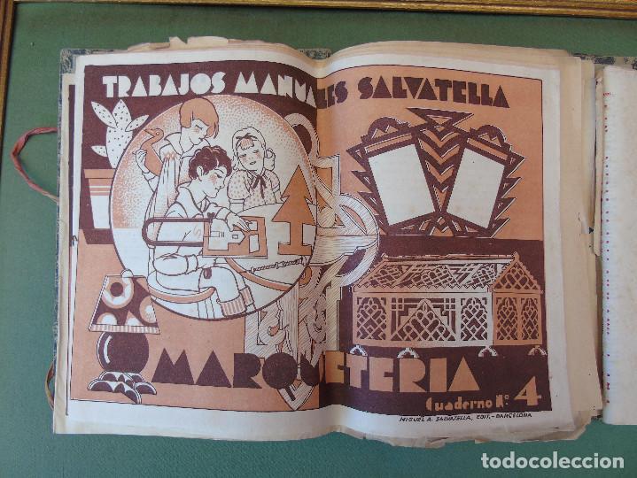 Coleccionismo Recortables: COLECCIÓN, TRABAJOS MANUALES DE MARQUETERÍA SALVATELLA. DEL Nº 1 AL Nº 8. CON CARPETA ANTIGUA - Foto 3 - 100089111