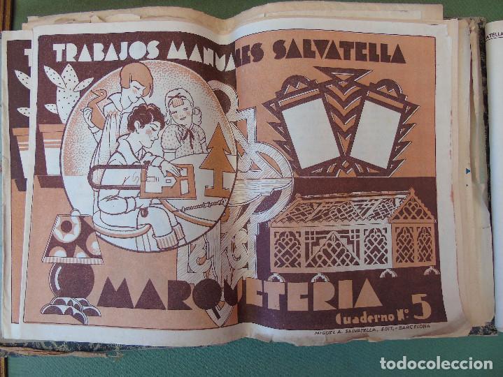 Coleccionismo Recortables: COLECCIÓN, TRABAJOS MANUALES DE MARQUETERÍA SALVATELLA. DEL Nº 1 AL Nº 8. CON CARPETA ANTIGUA - Foto 4 - 100089111