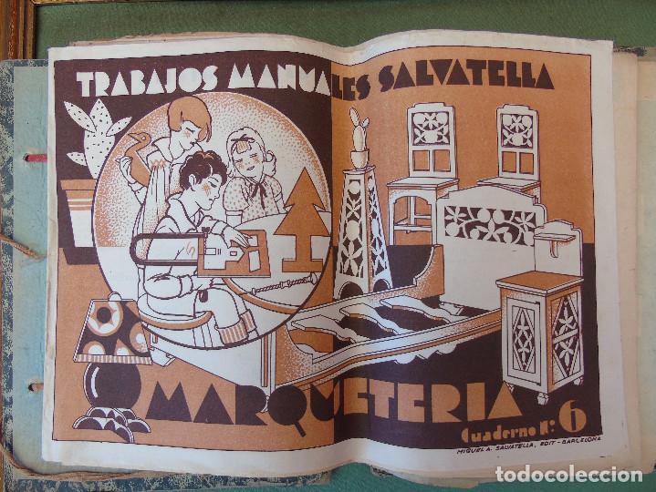 Coleccionismo Recortables: COLECCIÓN, TRABAJOS MANUALES DE MARQUETERÍA SALVATELLA. DEL Nº 1 AL Nº 8. CON CARPETA ANTIGUA - Foto 5 - 100089111