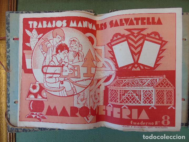 Coleccionismo Recortables: COLECCIÓN, TRABAJOS MANUALES DE MARQUETERÍA SALVATELLA. DEL Nº 1 AL Nº 8. CON CARPETA ANTIGUA - Foto 6 - 100089111