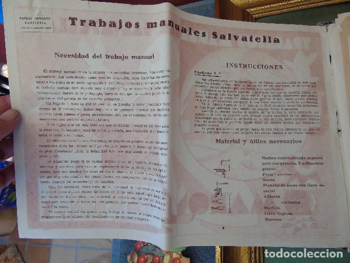 Coleccionismo Recortables: COLECCIÓN, TRABAJOS MANUALES DE MARQUETERÍA SALVATELLA. DEL Nº 1 AL Nº 8. CON CARPETA ANTIGUA - Foto 7 - 100089111