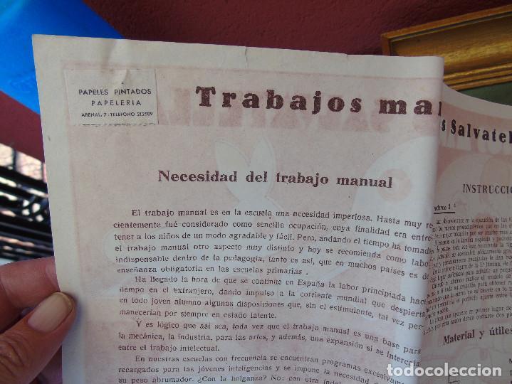 Coleccionismo Recortables: COLECCIÓN, TRABAJOS MANUALES DE MARQUETERÍA SALVATELLA. DEL Nº 1 AL Nº 8. CON CARPETA ANTIGUA - Foto 8 - 100089111