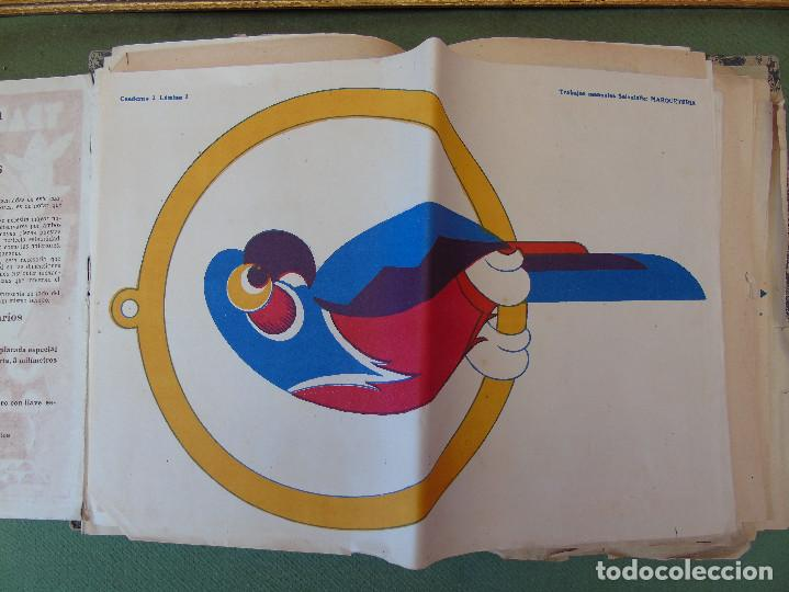 Coleccionismo Recortables: COLECCIÓN, TRABAJOS MANUALES DE MARQUETERÍA SALVATELLA. DEL Nº 1 AL Nº 8. CON CARPETA ANTIGUA - Foto 9 - 100089111