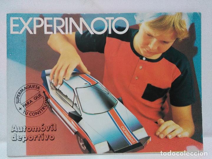 MAQUETA AUTOMÓVIL DEPORTIVO, EDAF 1985, SERIE CONSTRUYE Y JUEGA. EXPERIMOTO (Coleccionismo - Recortables - Construcciones)