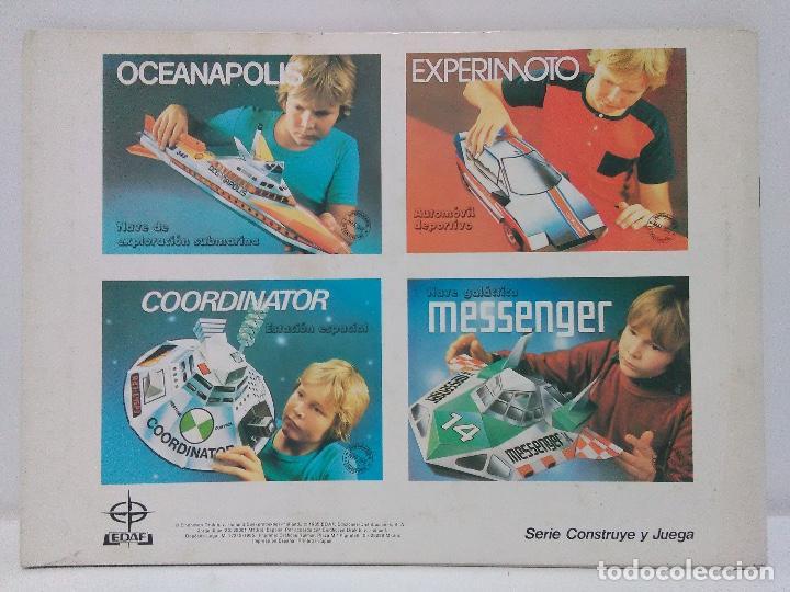 Coleccionismo Recortables: Maqueta automóvil deportivo, Edaf 1985, serie construye y juega. Experimoto - Foto 2 - 213494792