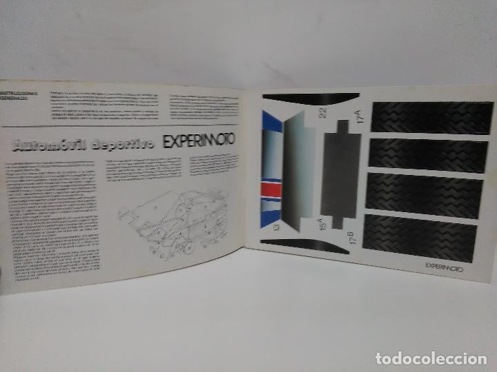 Coleccionismo Recortables: Maqueta automóvil deportivo, Edaf 1985, serie construye y juega. Experimoto - Foto 5 - 213494792
