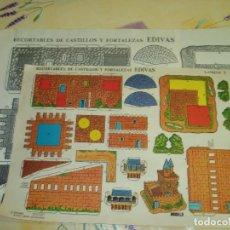 Coleccionismo Recortables: LOTE DE 6 RECORTABLES EDIVAS MAS FOTOCOPIAS AMPLIADAS. Lote 103321207