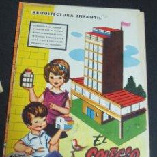 Coleccionismo Recortables: RECORTABLE ARQUITECTURA INFANTIL EL COLEGIO Nº 2 EDICIONES LA TIJERA AÑO 1962. Lote 103922659