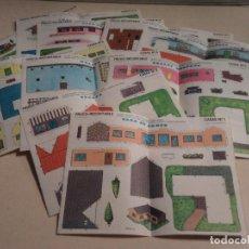 Coleccionismo Recortables: RECORTABLES FRUCO - CASAS - SERIE COMPLETA DE 10. Lote 106755199