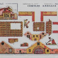 Coleccionismo Recortables: CORTIJO ANDALUZ. CONSTRUCCIONES EL NIÑO. COL. 5, Nº 13. 17X24 CM. . Lote 107299751