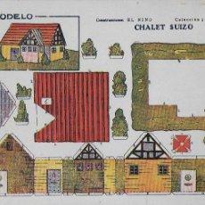 Coleccionismo Recortables: CHALET SUIZO. CONSTRUCCIONES EL NIÑO. COL. 5, Nº 4. 17X24 CM.. Lote 107299811