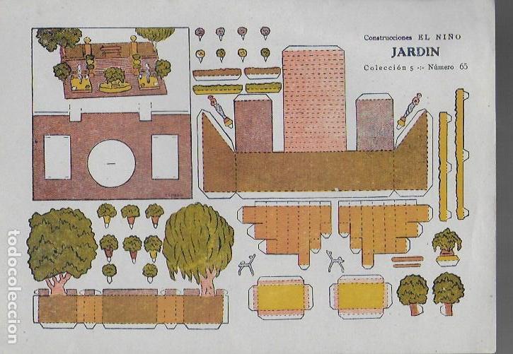 JARDIN. CONSTRUCCIONES EL NIÑO. COL. 5, Nº 65. 17X24 CM. (Coleccionismo - Recortables - Construcciones)