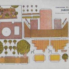 Coleccionismo Recortables: JARDIN. CONSTRUCCIONES EL NIÑO. COL. 5, Nº 65. 17X24 CM.. Lote 107299875