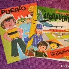 Coleccionismo Recortables: SERIE PINTA, RECORTA Y JUEGA - Nº 3 Y 4 - EL PUERTO Y EL AEROPUERTO - EDICIONES HYMSA SA - HAZ OFERT. Lote 107453591