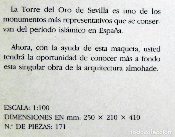 Coleccionismo Recortables: RECORTABLE DE LA TORRE DEL ORO - MONUMENTO SEVILLA - ANDALUCÍA ESPAÑA - MÁS RECORTABLES EN VENTA - Foto 2 - 109574375