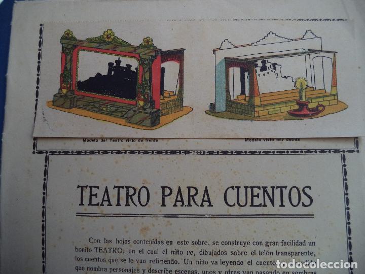 TEATRO PARA CUENTOS.LA TIJERA (Coleccionismo - Recortables - Construcciones)